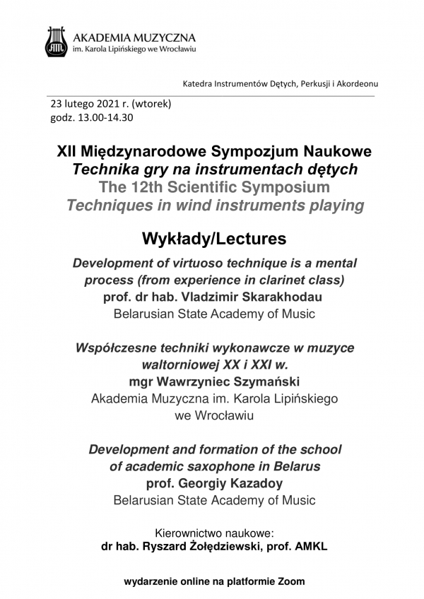 XII Międzynarodowe Sympozjum Naukowe