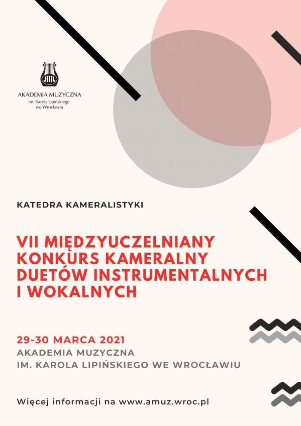 VII Międzyuczelniany Konkurs Kameralny Duetów Instrumentalnych i Wokalnych