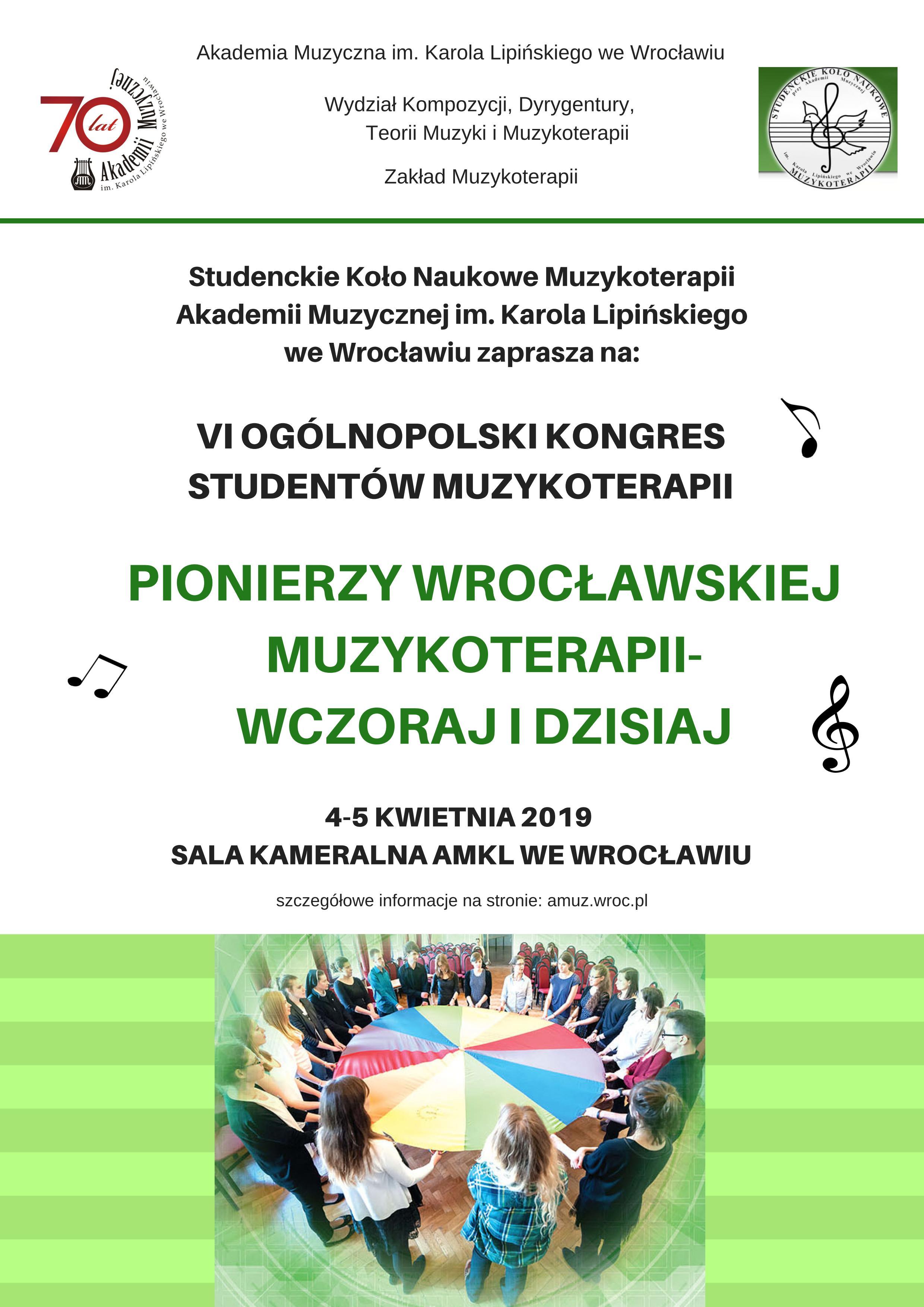VI Ogólnopolski Kongres Studentów Muzykoterapii: