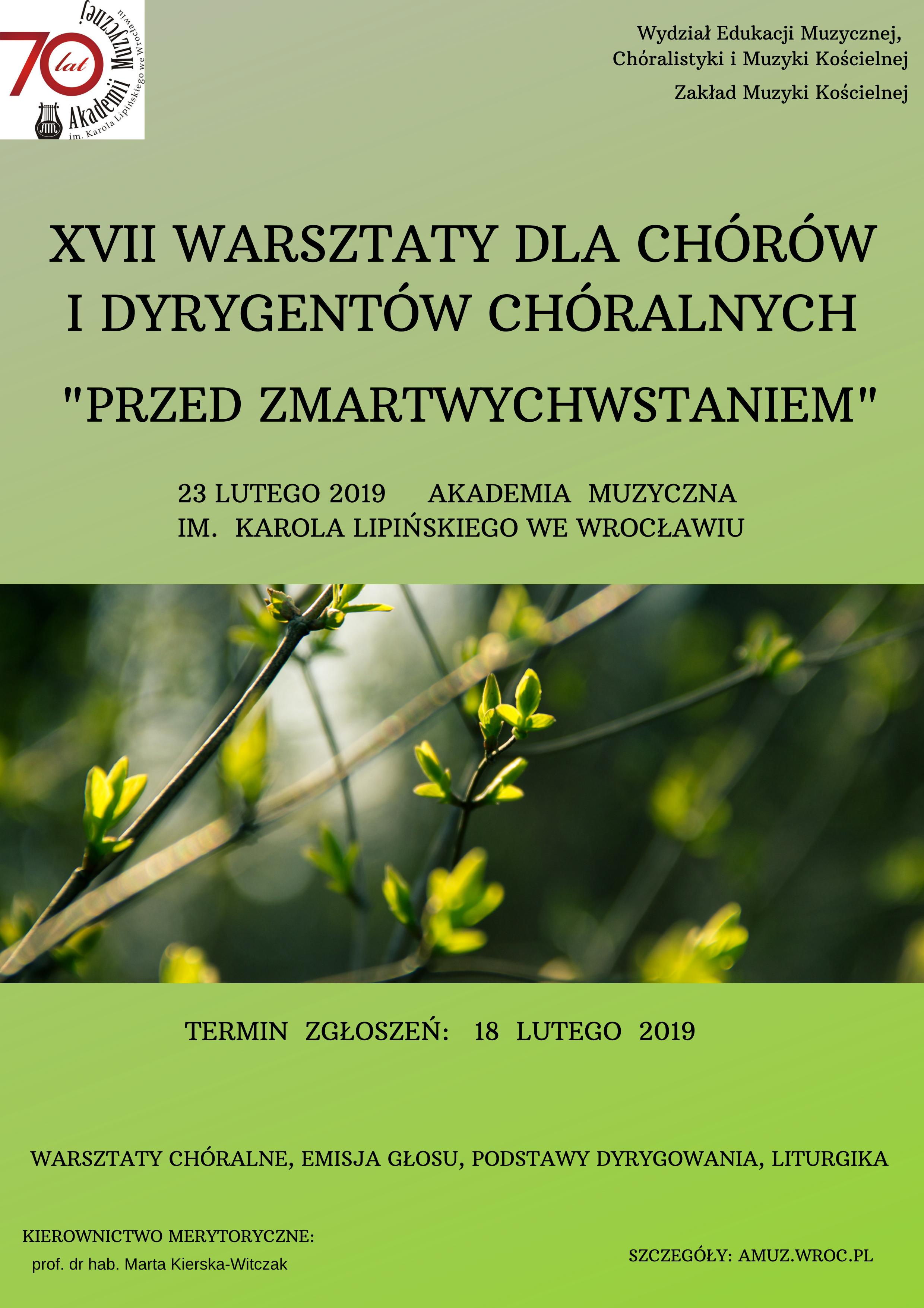 XVII Warsztaty dla chórów i dyrygentów chóralnych