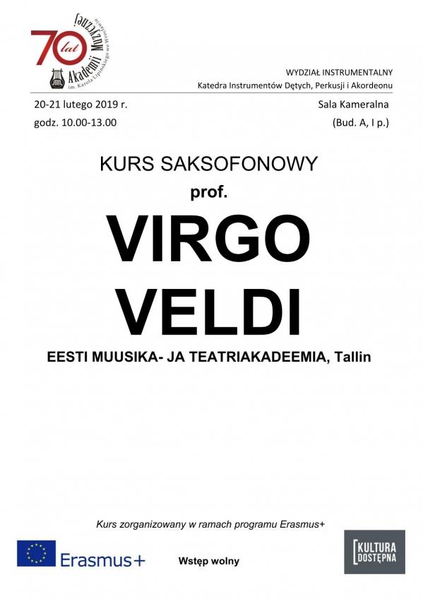 Kurs saksofonowy - prof. Virgo Veldi