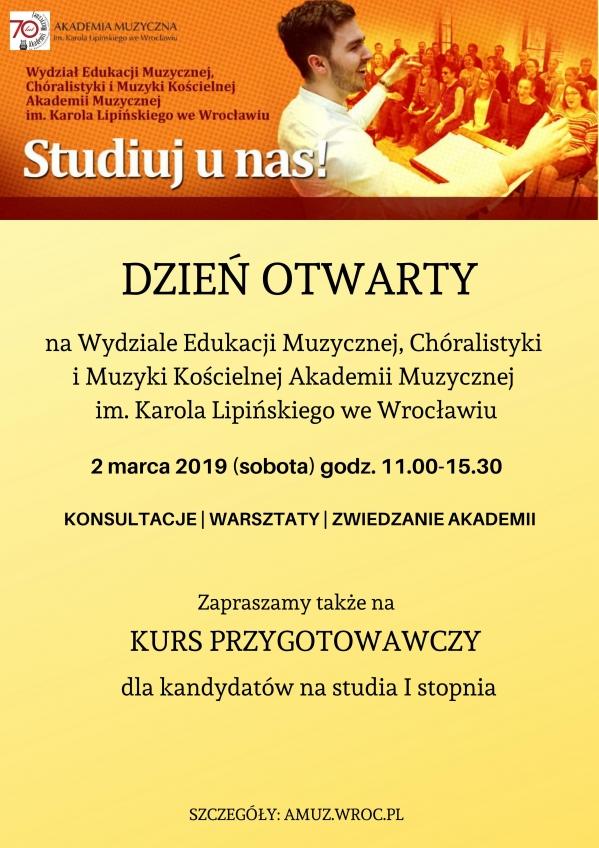 Dzień otwarty na Wydziale Edukacji Muzycznej, Chóralistyki i Muzyki Kościelnej
