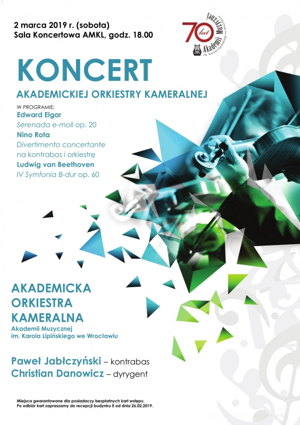 Koncert Akademickiej Orkiestry Kameralnej