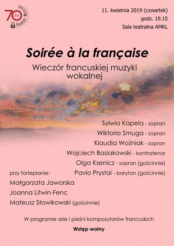 Wieczór francuskiej muzyki wokalnej