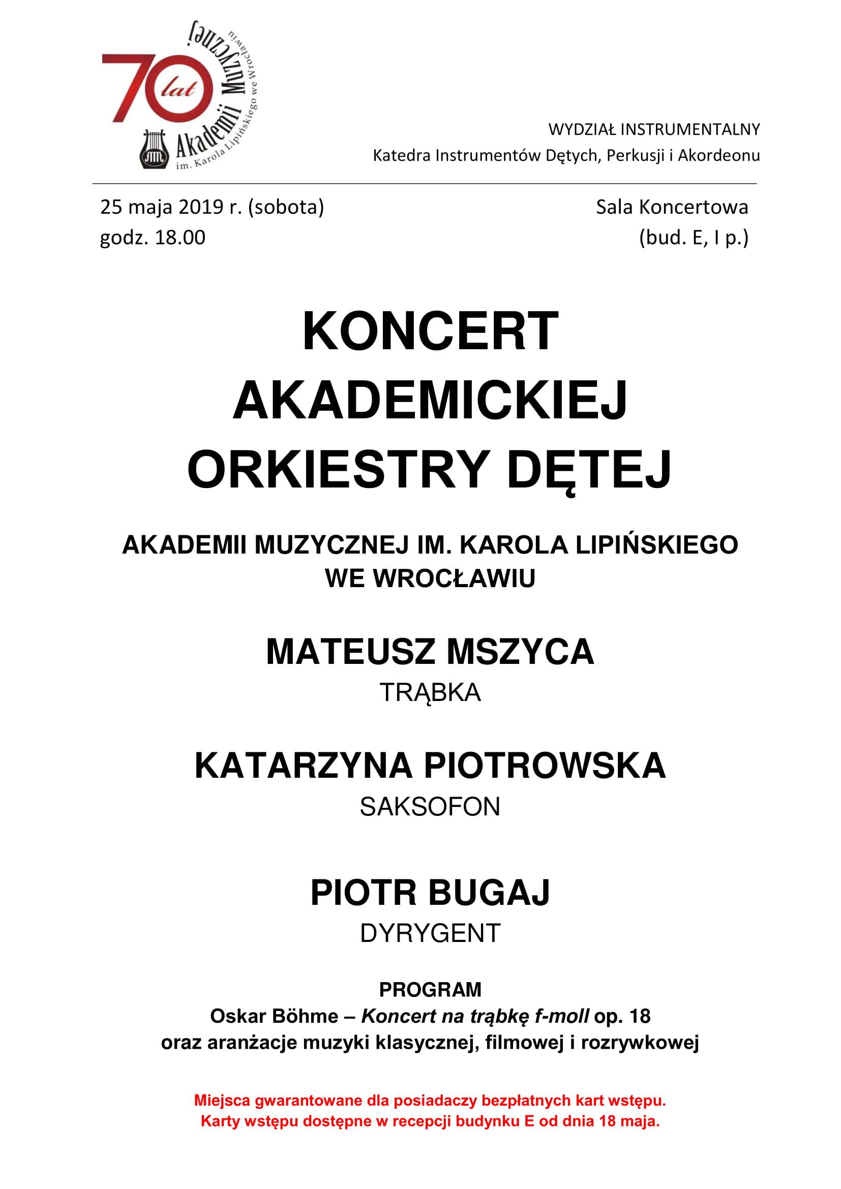 Koncert Akademickiej Orkiestry Dętej