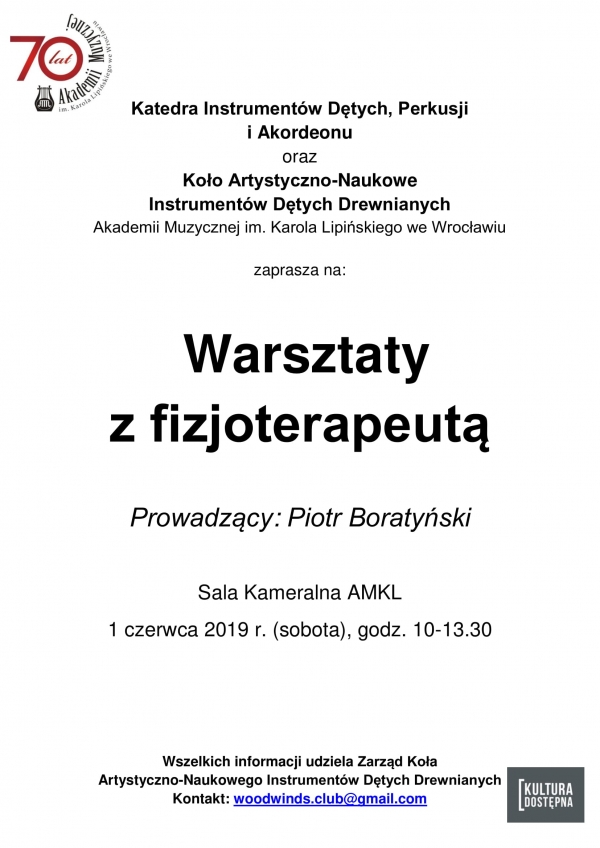 Warsztaty z fizjoterapeutą - Piotr Boratyński