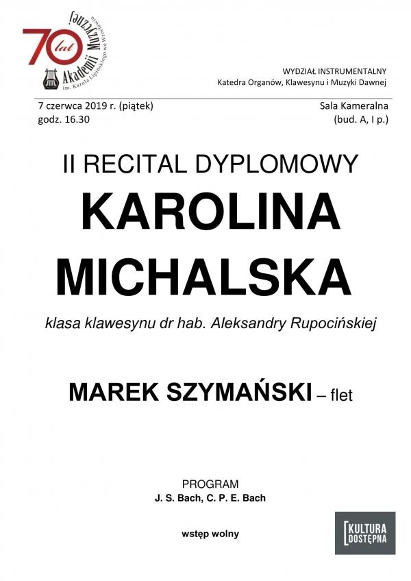 II recital dyplomowy - Karolina Michalska (klawesyn)