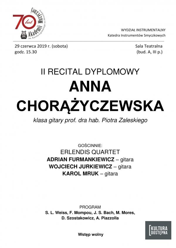 II recital dyplomowy - Anna Chorążyczewska (gitara)