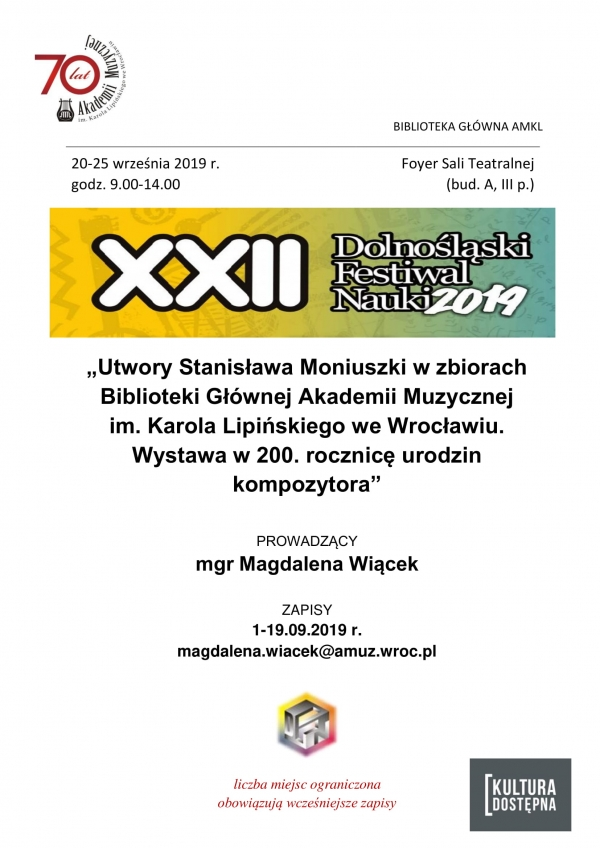 XXII Dolnośląski Festiwal Nauki 2019
