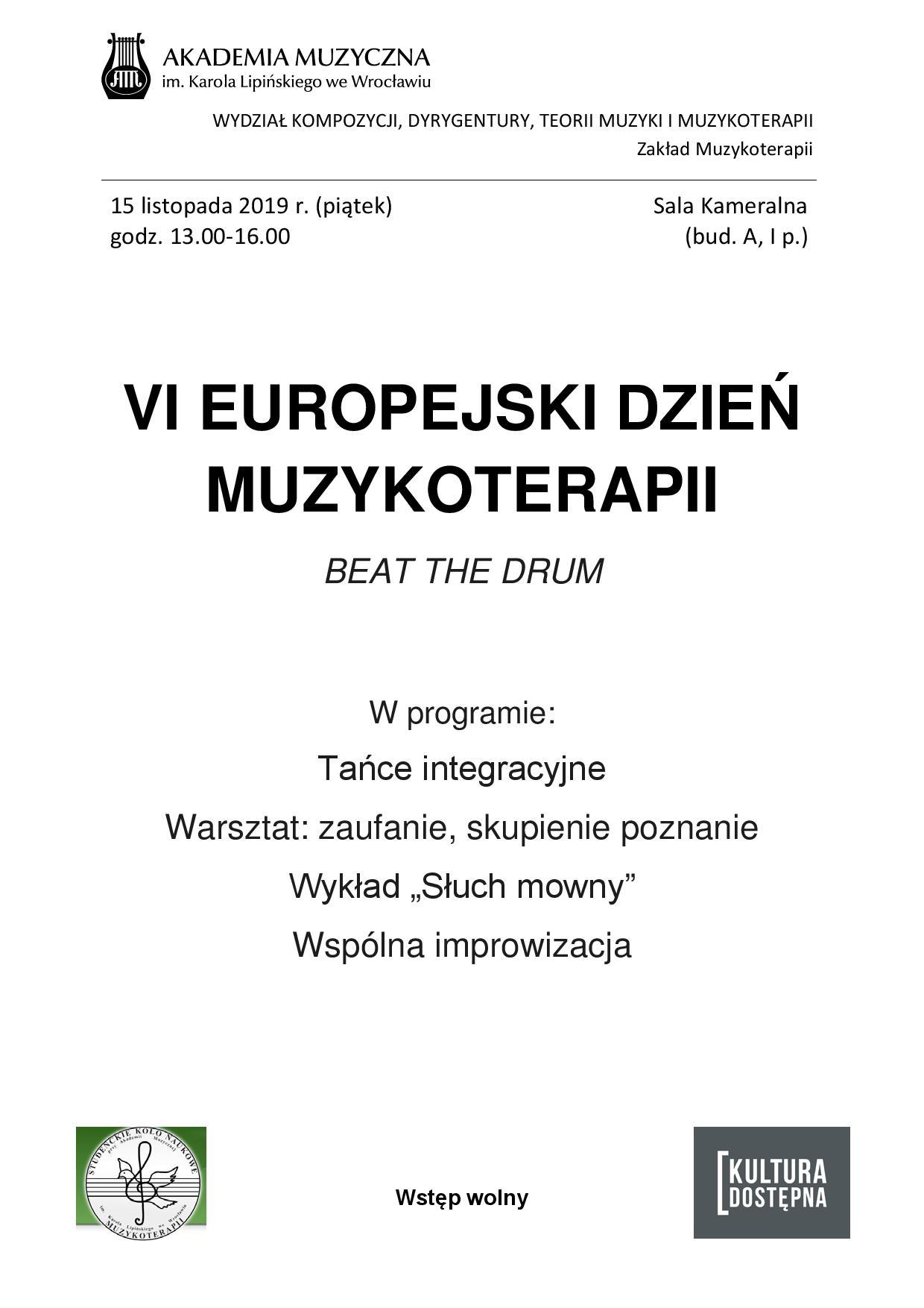 Europejski Dzień Muzykoterapii