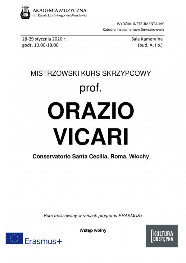 Mistrzowski Kurs Skrzypcowy - prof. Orazio Vicari