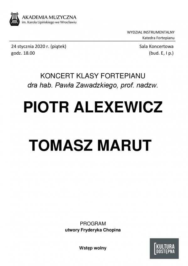 Koncert Katedry Fortepianu