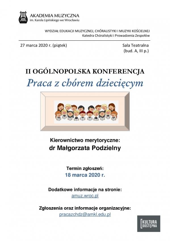 II Ogólnopolska Konferencja - Praca z chórem dziecięcym