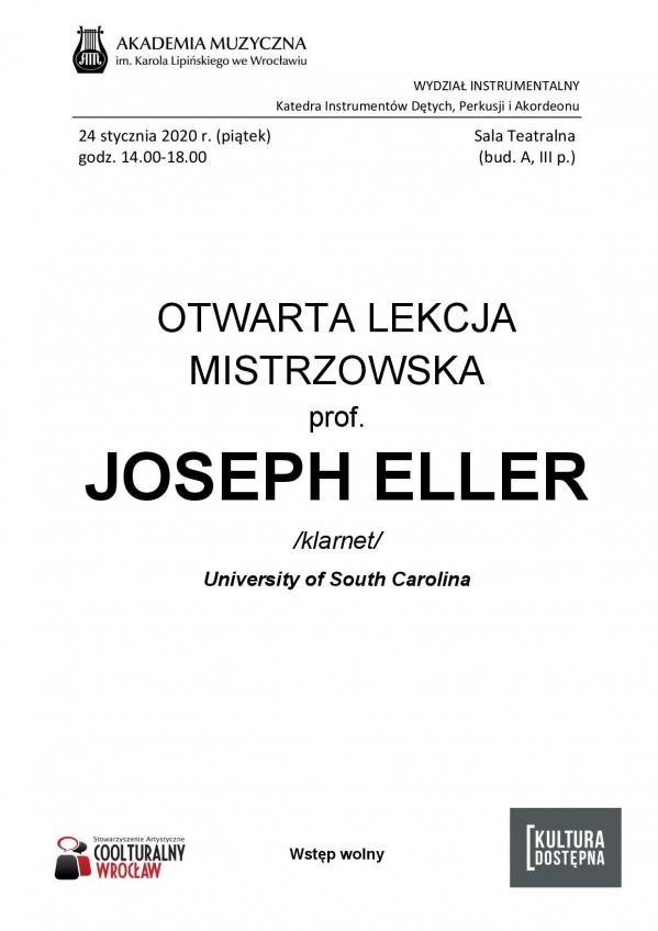 prof. Joseph Eller - otwarta lekcja mistrzowska