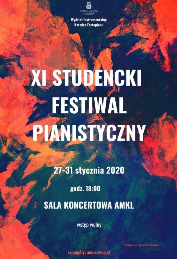 XI STUDENCKI FESTIWAL PIANISTYCZNY
