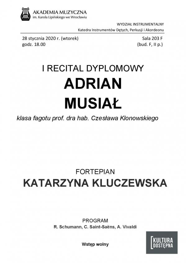 Adrian Musiał - I Recital dyplomowy