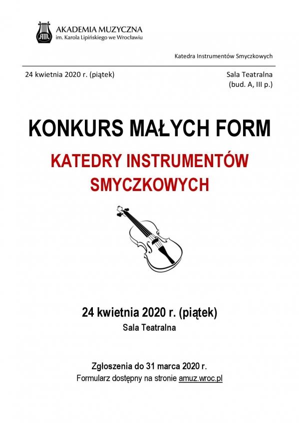 Konkurs Małych Form Katedry Instrumentów Smyczkowych