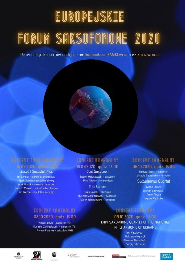 Europejskie Forum Saksofonowe 2020