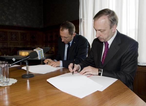 Podpisanie umowy o dofinansowanie rozbudowy Akademii Muzycznej we Wrocławiu 31.05.2010